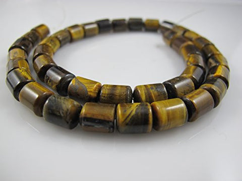 Tiger Eye Natural Gemstone Brown-yellow color Heshi Rondelle Shape 8x10mm 40pcs 15.5''per Strand Jewelry Making Beads