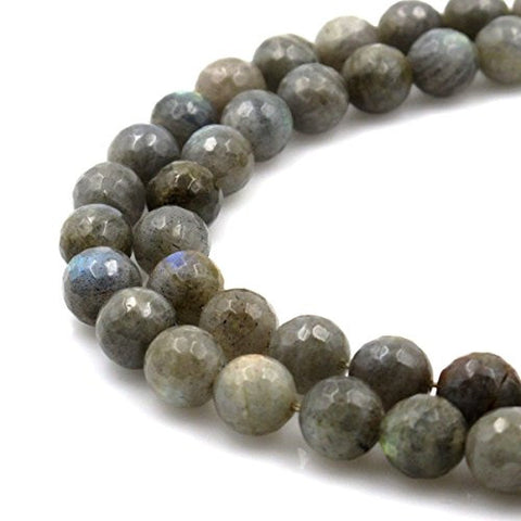BRCbeads Gorgeous Natural Faceted labradorite Gemstone Round Loose Beads 12mm Approxi 15.5 inch 30pcs 1 Strand per Bag for Jewelry Making