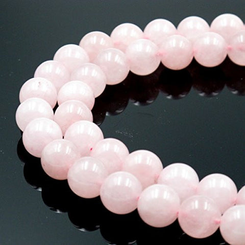 BRCbeads Gorgeous Natural Rose Quartz Gemstone Round Loose Beads 12mm Approxi 15.5 inch 30pcs 1 Strand per Bag for Jewelry Making