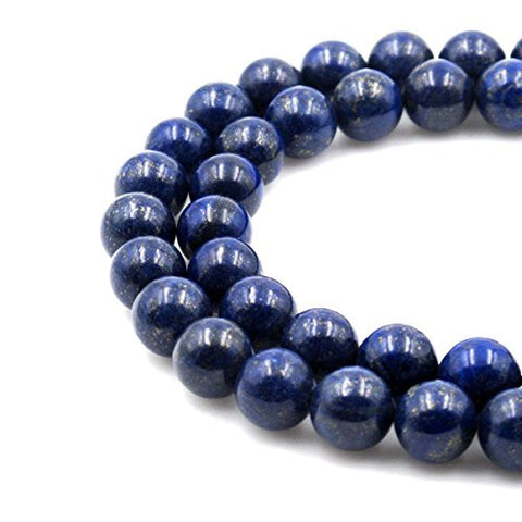 BRCbeads Gorgeous Natural Blue Lapis Gemstone Round Loose Beads 14mm Approxi 15.5 inch 25pcs 1 Strand per Bag for Jewelry Making