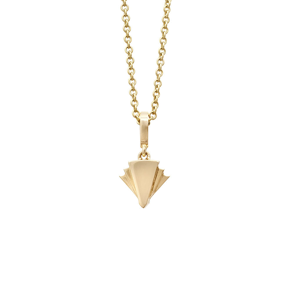 Fan Diamond Pendant in Gold Jewelry-Deco Sans Series