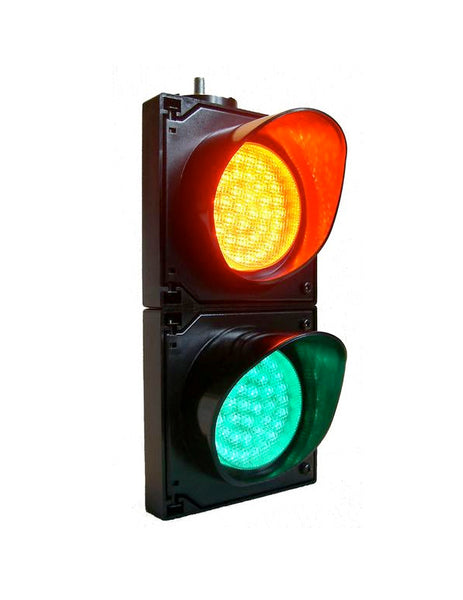 LED Traffic Light (100mm - 2 aspect 100-240V AC)