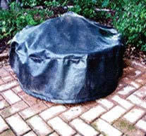 "76"" Black Vinyl Fire Pit Cover - Fire Pit Covers - Fire On Glass"