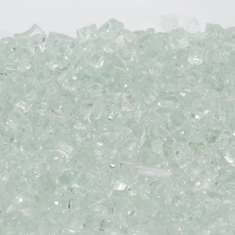 "1/2"" Icy Mint / Clear - Fireglass Crystals - Fire On Glass"