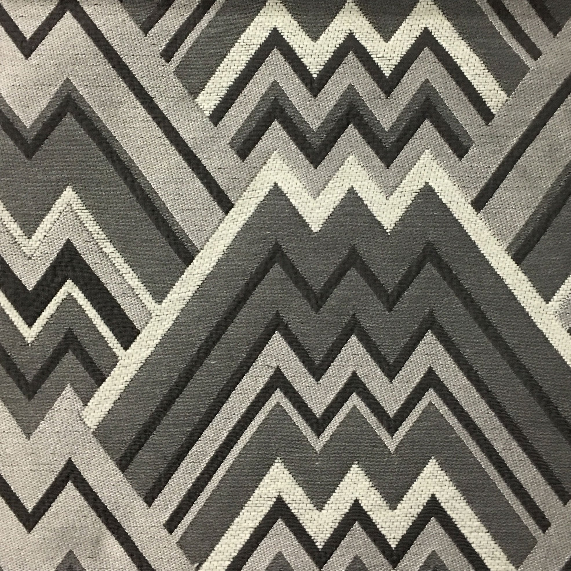 Mixed Construction Geometric Upholstery Fabric By