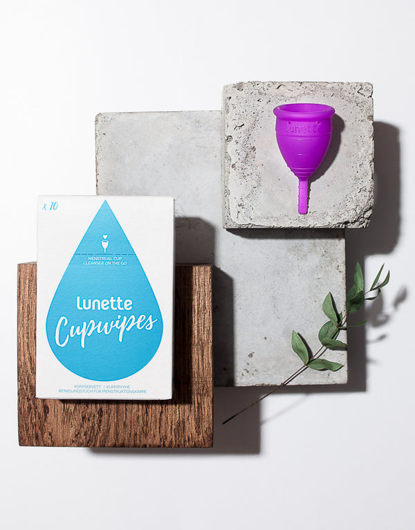 Menstrual Cup Starter Kit With Cupwipes - Lunette
