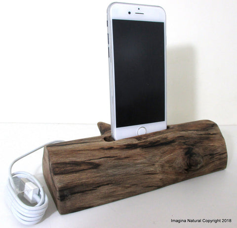 Free shipping Iphone Iphone 7-8-9- X- XS Docks Pre Order DriftWood iPhone Stand Wooden iPhones Docking Station Reclaimed Drift Wood iPhone 6- 7-8-X-XS Dock Wooden Stand