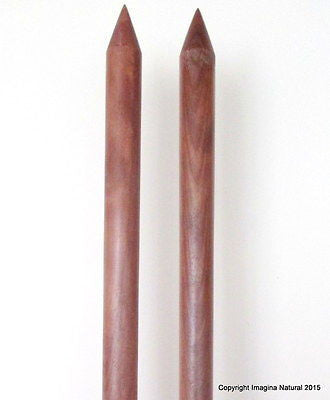 Jumbo Giant Thickness Chile Oak Knitting Needles Chunky Custom 50mm wide x 110cm - Imagina Natural