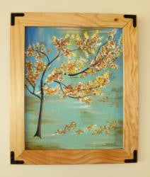 Rustic Handmade Oregon pine picture frame with iron join - Imagina Natural