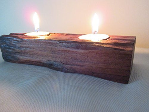 Beautiful New Handmade Rauli Driftwood Tea light Candle Holder Made from Reclaimed Native Chilean Wood. Candelabra, Candlestick, Tealight - Imagina Natural