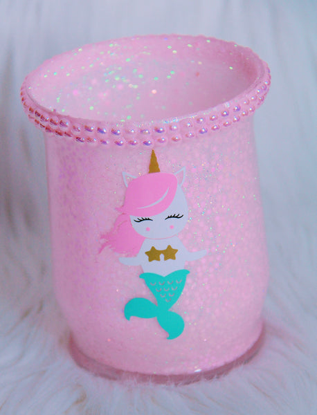 Pink Mermaid-Unicorn brush holder