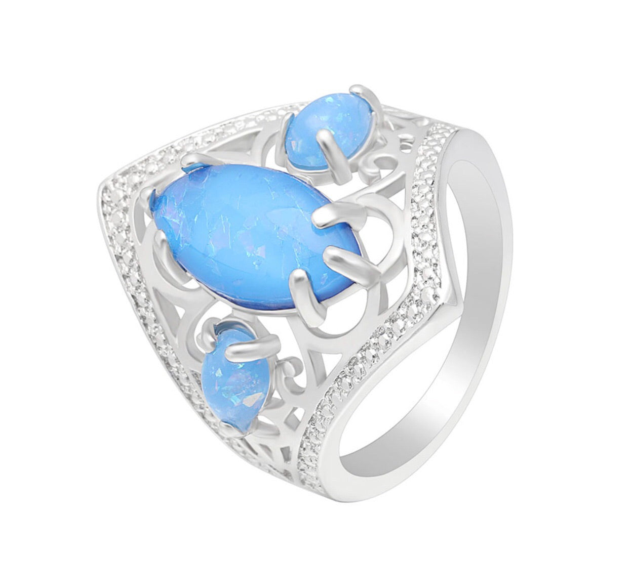 Blue princess ring - Classy Pink Boutique