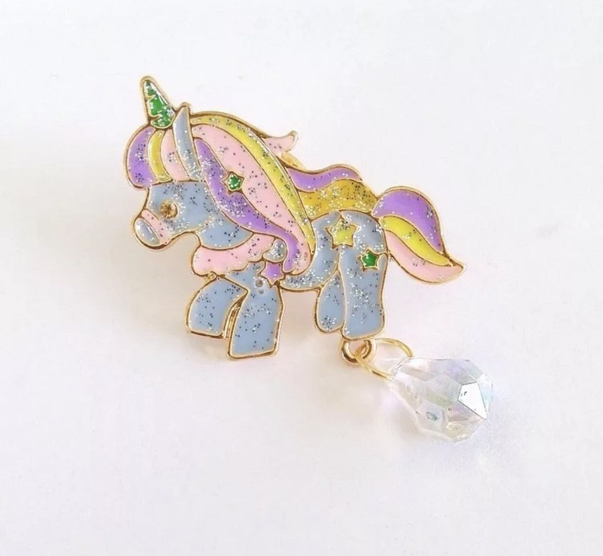 Blue sparkle unicorn pin - Classy Pink Boutique