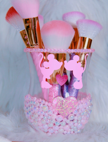 Minnie Mickey inspired brush holder - Classy Pink Boutique
