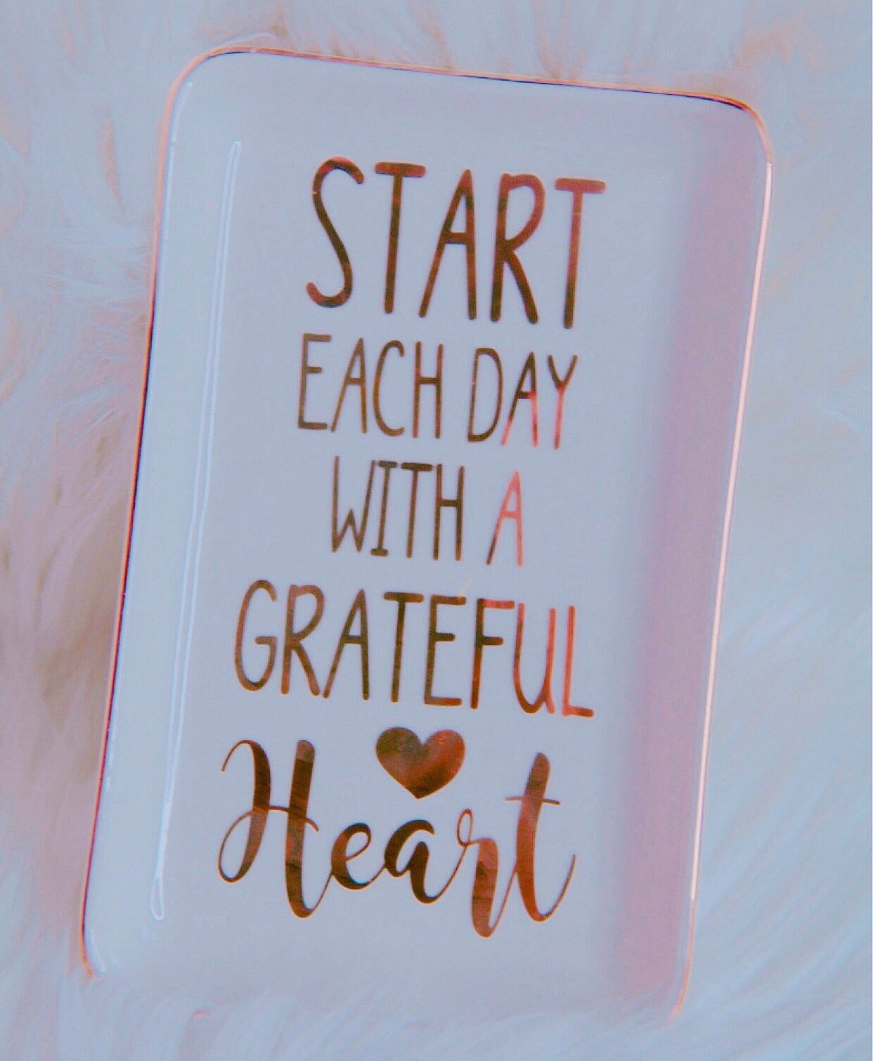 Grateful Heart trinket tray - Classy Pink Boutique