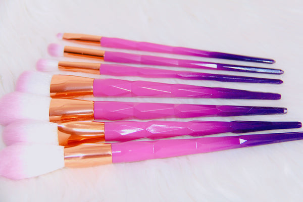 Dark pink brush set - Classy Pink Boutique