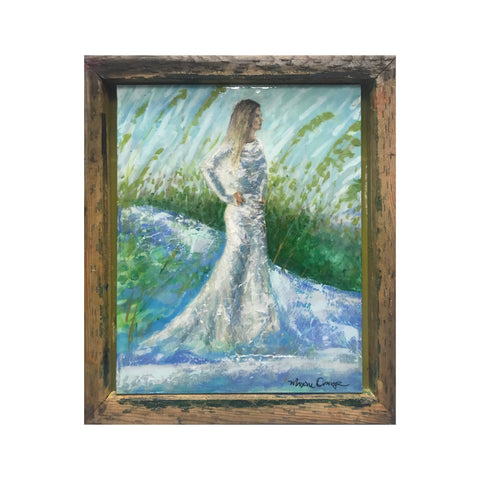Comin in Haute 16x20 Abstract Bridal