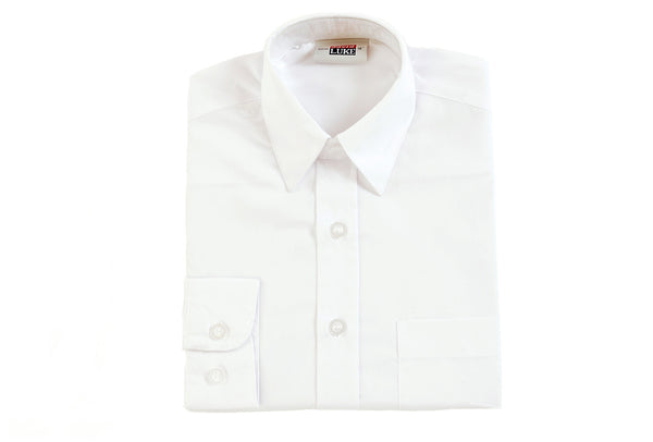 Boys White Shirt - Twin Pack