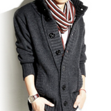 Mens High Collar Cardigan - AmtifyDirect