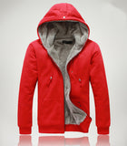 Mens Casual Hooded Jacket with Faux Fur Lining - AmtifyDirect