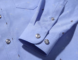 Mens Blue Shirt with Dolphin Print - AmtifyDirect
