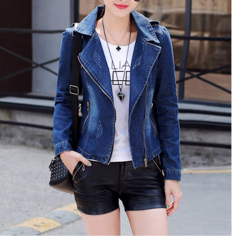 Womens Denim Short Jacket
