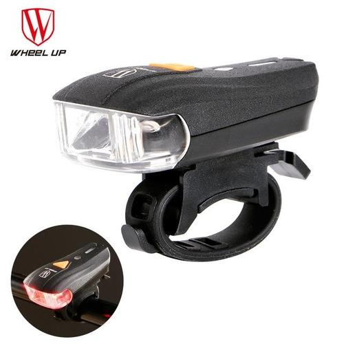 Wheel Up Waterproof USB Rechargeable Bicycle Front Light-Front Lights-Wheel Up-Red-PanzerCases