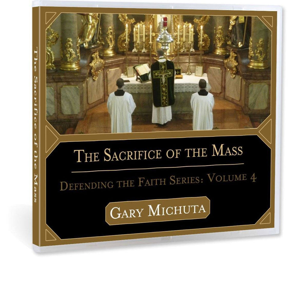 Gary Michuta discusses what sacrifice even means in a Biblical world view, how the mass can be a sacrifice, and whether or not Jesus calls us to unite our sacrifices to his crucifixion (CD).