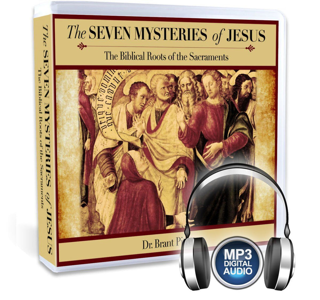 Dr. Brant Pitre gives you an invigorating and complete Bible study on the seven sacraments in the Bible: Baptism, Eucharist, Confession, Confirmation, Anointing of the Sick, Holy Matrimony, Holy Orders [Priesthood] (MP3).