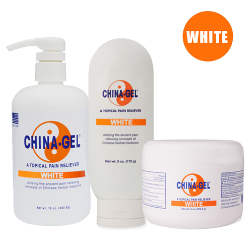 China-Gel Topical Pain Reliever - White