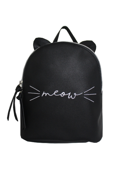 Right Meow Backpack in Black