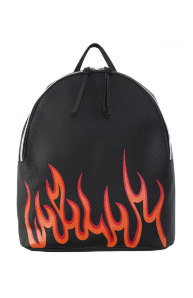 Jane Mini Dome Backpack in Black Flamin' Hot