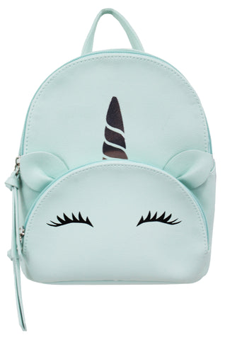 Backpack with Pom in Iridescent
