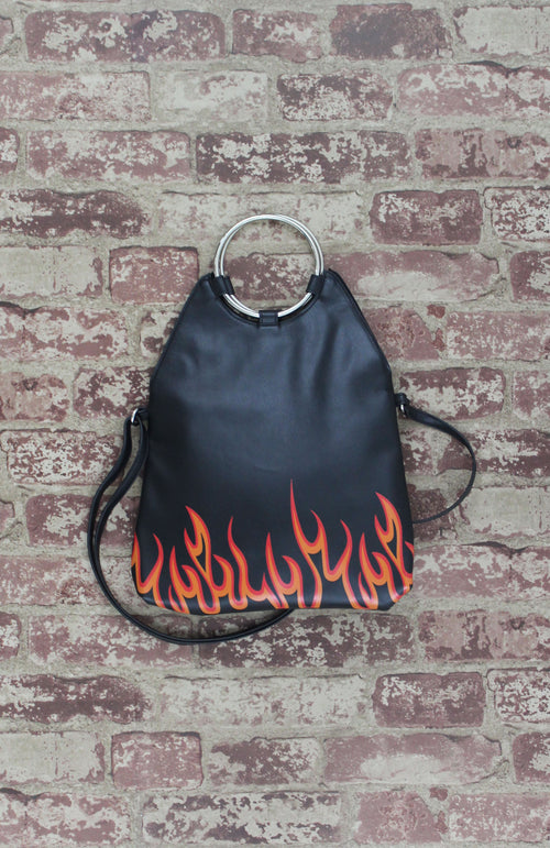 Lexi Ring Fold-over Satchel in Flamin' Hot