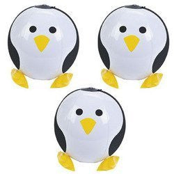 12 ct - Inflatable Penguin Beach Balls - Funzalo Toys