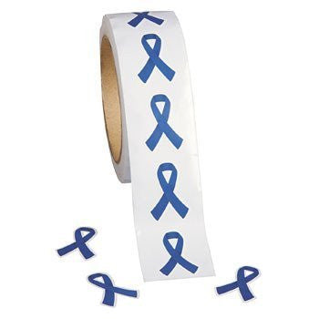 500 Blue Awareness Ribbon Stickers - Funzalo Toys