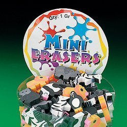144 Mini Zoo Animal Erasers for Safari Birthday Party Favors / Gift Bags - Funzalo Toys