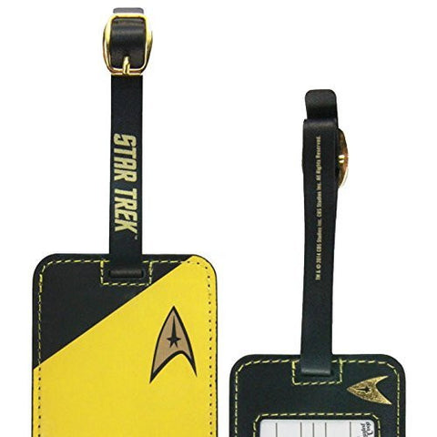 1 X Star Trek Gold Uniform Luggage Tag - Funzalo Toys