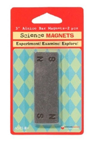 2 Alnico Bar Magnets - Funzalo Toys