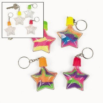 12 Star Sand Art Bottle Key Chains - Funzalo Toys