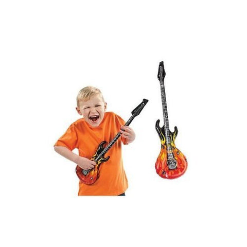 12 Inflatable Flames Guitars - Games & Activities & Inflatables - Funzalo Toys