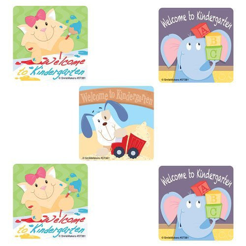 100 - Welcome To Kindergarten Stickers - Funzalo Toys