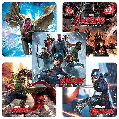 Avengers:Age of Ultron Characters Stickers - Birthday Party Supplies & Favors - 75 per Pack - Funzalo Toys