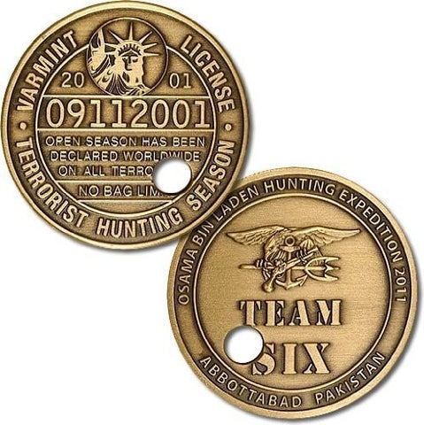 """Punched Ticket"" Osama bin Laden Challenge Coin - Funzalo Toys"