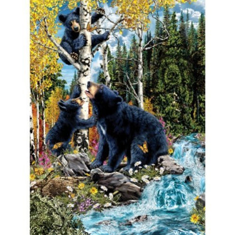 15 Black Bears a 1000-Piece Jigsaw Puzzle by Sunsout Inc. - Funzalo Toys