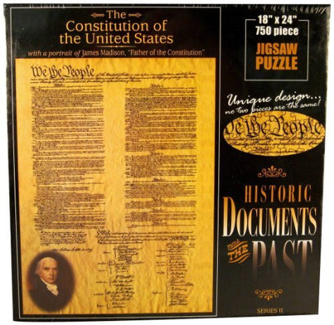 American Documents The Constitution of The United States Jigsaw Puzzle (750-Piece) - Funzalo Toys