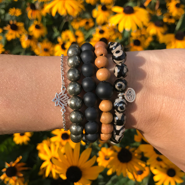 Grounding Wrist Mala - Blooming Lotus Jewelry