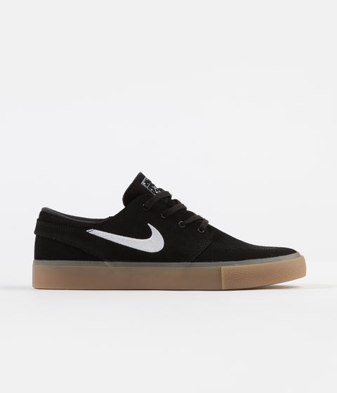 dde047c10 Nike SB Janoski Remastered Shoes - Black / White - Black - Gum Light Brown