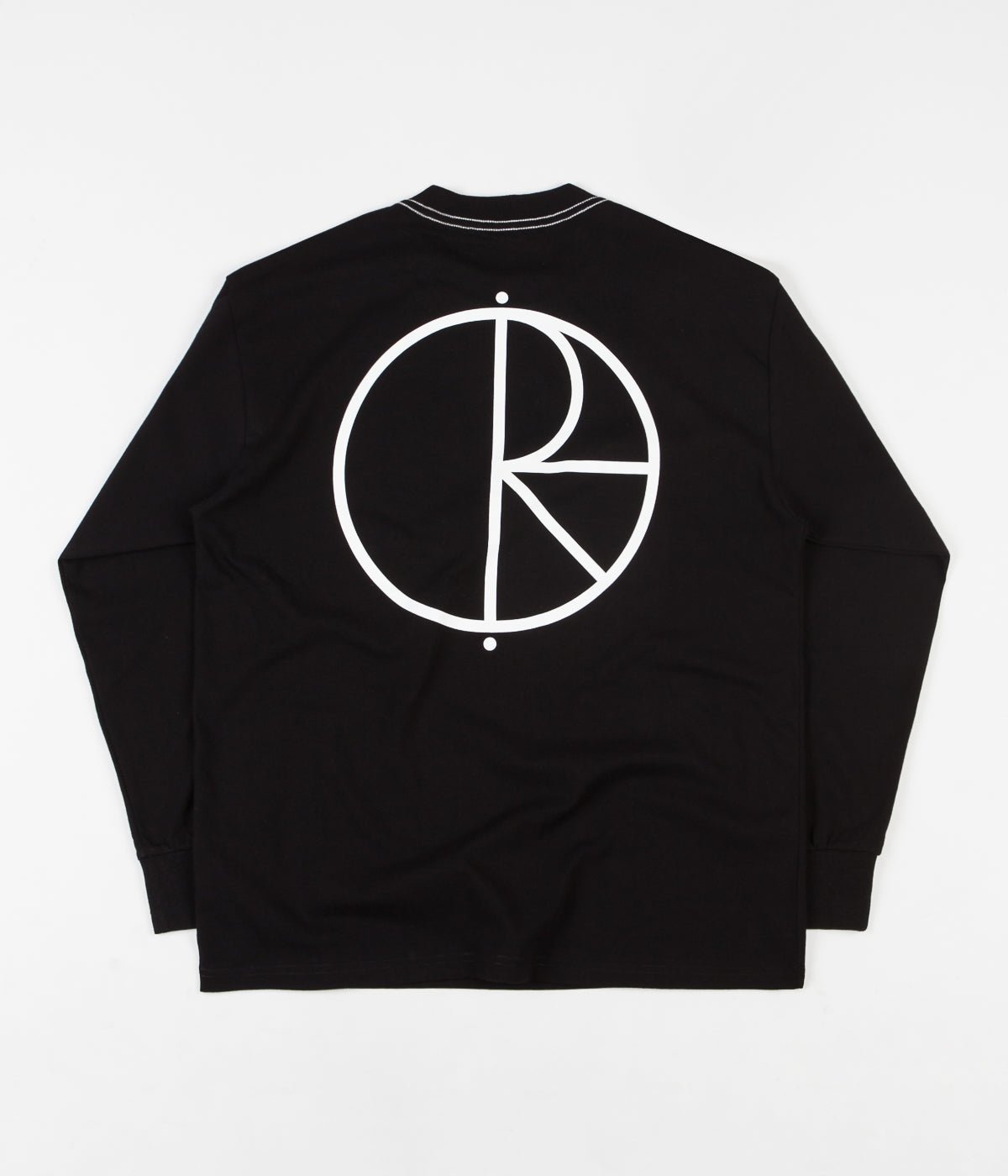 Polar Contrast Long Sleeve T-Shirt - Black