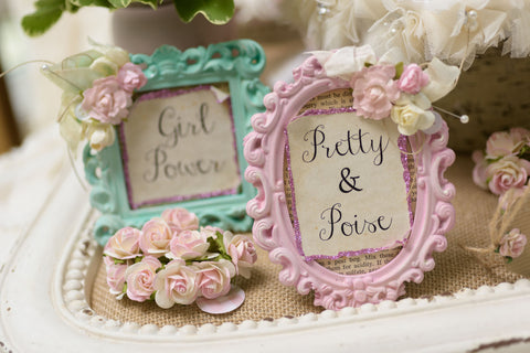Pink and Mint Shabby Chic Frames